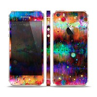 The Neon Paint Mixtured Surface Skin Set for the Apple iPhone 5s