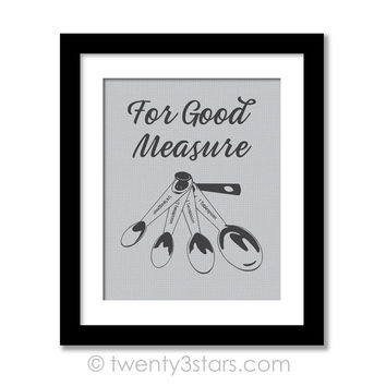 Measuring Spoons Kitchen Humor Wall Art - Choose Any Colors - twenty3stars