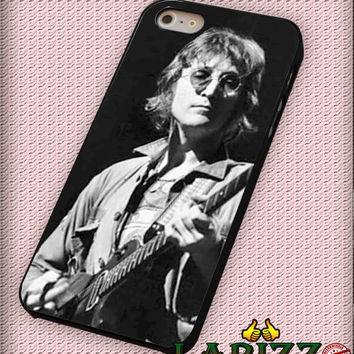 """John Lennon Sitting With Guitar for iPhone 4/4s, iPhone 5/5S/5C/6/6+, Samsung S3/S4/S5, Samsung Note 3/4 Case """"007"""""""