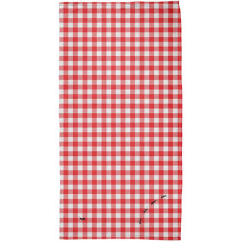 Picnic Blanket Summer Ants All Over Plush Beach Towel