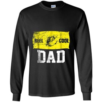 Mens Reel Cool Dad T-Shirt Fishing Daddy Father's Day Gift S