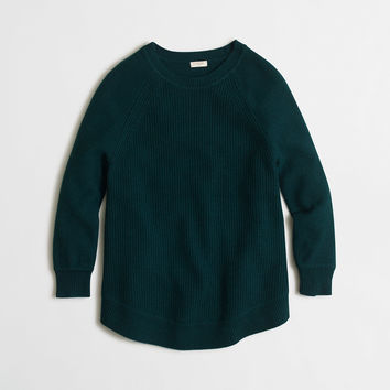 Factory textured curved-hem sweater