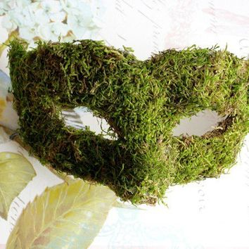 Woodland Queen Moss Venetian Masquerade Mask MADE TO ORDER