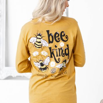 Bee Kind |Mustard Yellow | Simply Southern