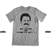 Ron Swanson Government Shutdown Shirt - Best Vacation EVER