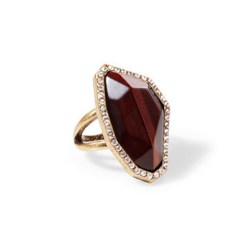 Rebel Red Tiger Eye Statement Ring