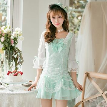 Princess sweet lolita dress Candy rain Summer new Japanese  sweet Chiffon Dress summer fresh princess dress  C22AB7032