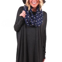Endless Possibilities Tunic Dress in Gray