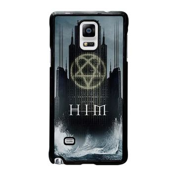 HIM BAND HEARTAGRAM Samsung Galaxy Note 4 Case Cover