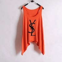 YSL Women Tank top - Orange | hudiefly
