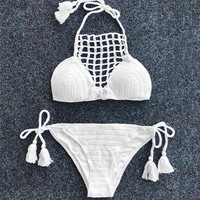 Cupshe Look At Things Differently Crochet Bikini Set