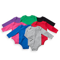 Little Tots Long Sleeve Bodysuits - Solid