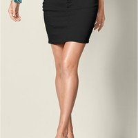 Black Color Mini Jean Skirt | VENUS