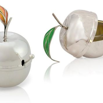 Apple Honey Dish by Nadav Art, Serving Pieces Size: 1.5 W X 3.85 H