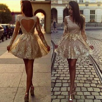 Gold Swirl Embroidered Dress