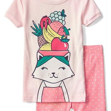 Tutti frutti cat short sleep set | Gap