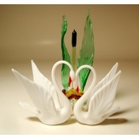 Glass Swans in the Reed - GlassLilies.com
