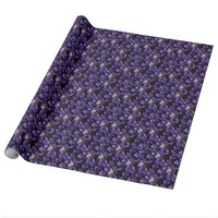 Romantic Love Purple Valentine Glitter Roses Wrapping Paper