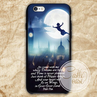 Peter Pan Quote phone case iPhone 4/4S, 5/5S, 5C Series, Samsung Galaxy S3, Samsung Galaxy S4, Samsung Galaxy S5 - Hard Plastic, Rubber Case
