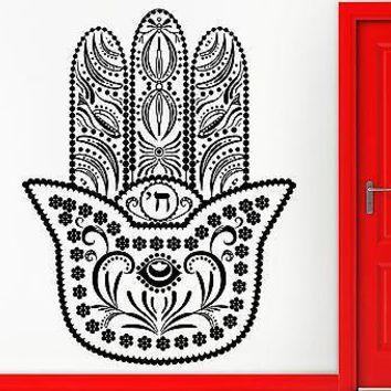 Wall Stickers Vinyl Decal Hamsa Amulet Talisman Good Luck Decor  Unique Gift (z2370)