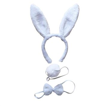 3Pcs Kids Adult Rabbit Bunny Ears Headband Bow Ties Tail Set Party
