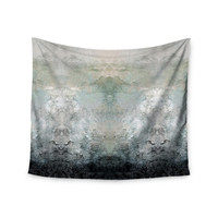 "Pia Schneider ""Abstract No.1"" Gray White Wall Tapestry"