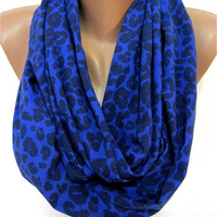 ON SALE -Leopard Scarf, Infinity Scarf, Shawl Circle Scarf LoopShawl-gift Ideas For Her Women's Scarves-christmas gift-Fashion accessories
