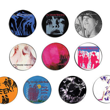 My Bloody Valentine loveless, isn't anything pin pinback Button Badge Set ( 10 Badges)