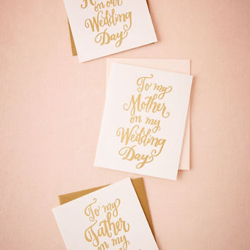 Foil Script Wedding Day Card