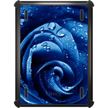 DistinctInk™ OtterBox Defender Series Case for Apple iPad - Blue Dew Covered Rose