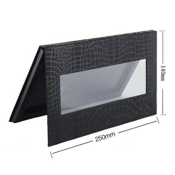 DCCKL6D 4 Different Size Magnetic Eyeshadow Palette,Crocodile Black Blank Pattern,Professional Naked Makeup Stroage.