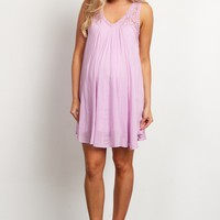Lavender-Embroidered-Mesh-Shoulder-Pleated-Tunic/Dress
