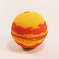 Yellow and Red Bath Bomb, candy corn, bath fizzy, bath bomb, aromatherapy bath bomb, bath bombs, natural bath bomb, spa gift, all natural