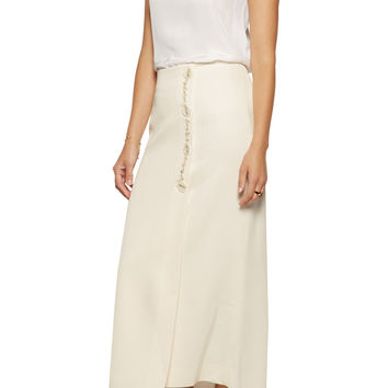 Ellery Jacques wrap-effect satin-crepe midi skirt – 60% at THE OUTNET.COM