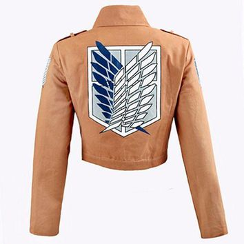 ac DCCKO2Q Attack on Titan Jacket Shingeki no Kyojin Legion Coat Cosplay Eren Levi Jacket Plus Size Free shipping Halloween Costume