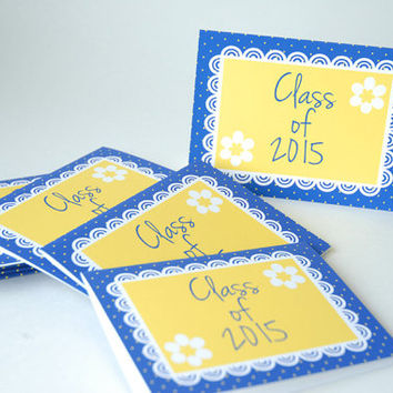 Class of 2017 - Graduation Party Decorations - Table Numbers - Place Cards - Note Cards - High School College Graduation Party