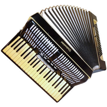 Original Fine German Piano Accordion Weltmeister, 120 Bass 5 + 2 Switches, Musical Instrument, 323