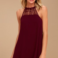 Tell Me Plum Purple Swing Dress