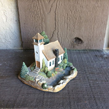 Fairy Garden Miniature Church, Pixie Garden Houses, Fairy Houses, Chapel for Fairies, Ceramic Hand Painted Mini Church on a Hill