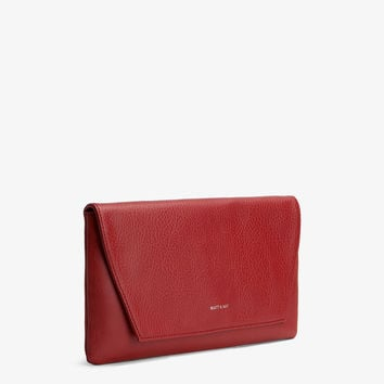 Matt and Nat Daisy Clutch in Bordeaux Red Colored Vegan Leather