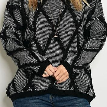 Black Chunky Knit Sweater