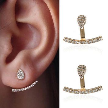 Heart Round Piercing Ear Cuff Stud Earring
