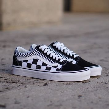 GE AUGUAU Vans Old Skool  Mix Checker