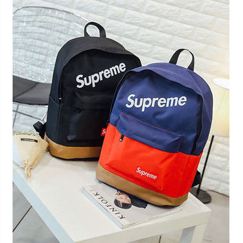 Large Travel Bag College Supreme Comfort School Stylish Soft Casual Backpack