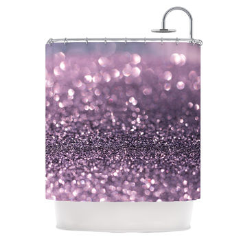 "Debbra Obertanec ""Lavender Sparkle"" Purple Glitter Shower Curtain"