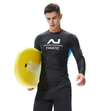 New 2018 Compression Men's Shirt long sleeve  Fitness tops t-shirt boys singlets Surfing Sport GYM Running Top Tee  Sweatshirt