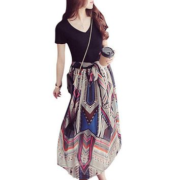 Casual Chiffon Print Dress