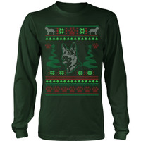 GERMAN SHEPHERD UGLY CHRISTMAS SWEATER - LONG SLEEVE