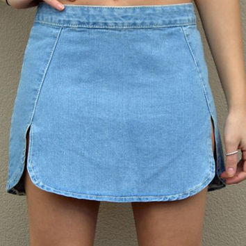 Ladies Slim High Waisted Stone Wash Denim Hot Skirts Solid Colr Casual Jeans Skirts Womens Fashion Hot Jeans Skirts