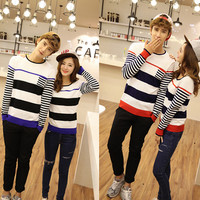 8561# 2014 Hitz stripe color matching Korean couple winter sweater couples coat-in Hoodies & Sweatshirts from Apparel & Accessories on Aliexpress.com | Alibaba Group